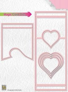 Nellie snellen Stamping template: Magic Card, heart