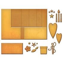 La perforación de plantilla para el diseño de tarjetas pop-up
