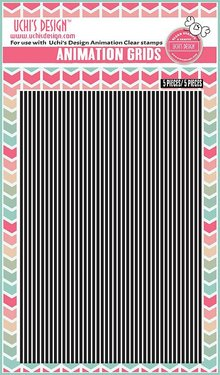 Uchi's Design 5 Animación Grids, negro