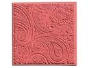 1 texture mat, Paisley, 90 x 90 mm