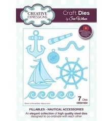 Creative Expressions Stamping stencils: Nautical Accessories