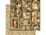 Graphic 45 Portrett av en dame, designer papir 30,5 x 30,5 cm