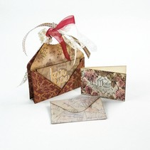Stamping and pre-template: for various small envelopes