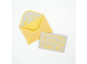 TONIC Stamping and pre-template: for various small envelopes