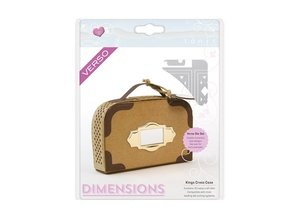 TONIC Stamping and embossing template: 3D suitcase