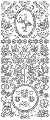 Sticker Ziersticker: Baby- und Hochzeitsdekorationen