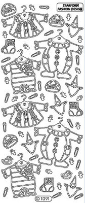 Sticker Ziersticker: Abbigliamento per neonati ragazza