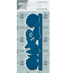 Joy!Crafts plantilla de perforación: Frontera con conchas marinas
