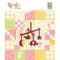 Stamping template: baby mobile