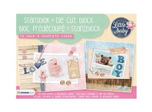 Komplett Sets / Kits A5 Punch blok: Lille Baby Nr.01