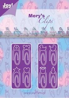 Joy!Crafts plantilla de perforación: Clips de papel bebé Neutraal