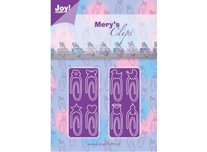 Joy!Crafts Stamping template: Paperclips Baby-Neutraal