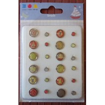 Epoxy Brads, 12 large and 12 smaller ones - Copy - Copy