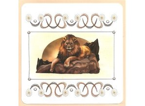 "BASTELSETS / CRAFT KITS: Card set ""Wild Animals"" embroidered"