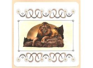 """BASTELSETS / CRAFT KITS: Kort sæt """"Vilde dyr"""" for at brodere"""
