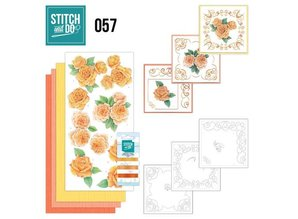 "BASTELSETS / CRAFT KITS: Card set ""Rosen"" embroidered"