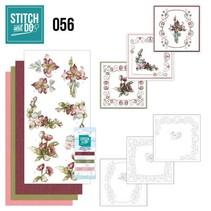 "Card set ""Fantastic Flowers"" embroidered"
