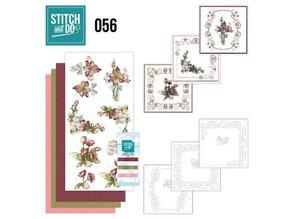 """BASTELSETS / CRAFT KITS: Card set """"Fantastic Flowers"""" embroidered"""