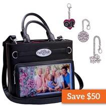 Bag Black + Key Ring Charms by Heartfelt Creations