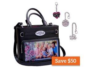 Heartfelt Creations aus USA Bag Black + Key Ring Charms by Heartfelt Creations