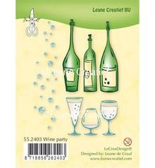 Leane Creatief - Lea'bilities Sello transparente: partido del vino