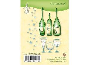 Leane Creatief - Lea'bilities Transparent Stempel: Wine Party