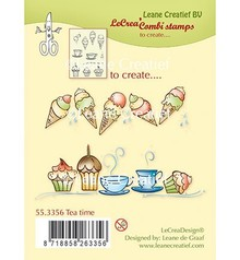 Leane Creatief - Lea'bilities Transparent Stamp: Tea Time