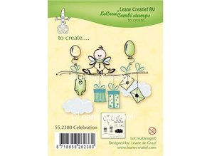Leane Creatief - Lea'bilities Transparent Stempel: Celebration