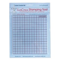 Stamping tool for transparent stamps