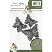 Stamping- and pre-template: 3 butterflies