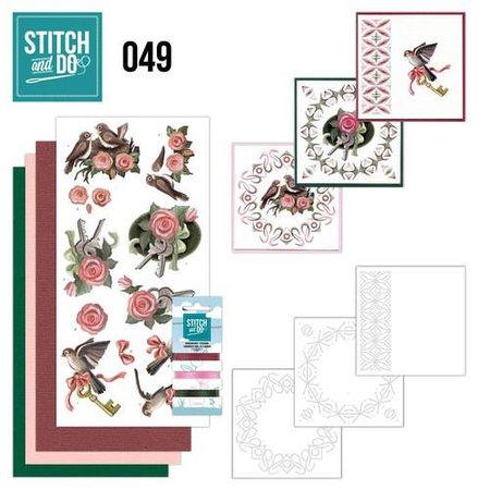 """BASTELSETS / CRAFT KITS: Card set """"birds"""" embroidered"""
