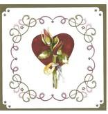 """BASTELSETS / CRAFT KITS: Card set """"Wedding"""" embroidered"""