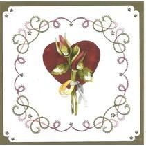 "Card set ""Wedding"" embroidered"