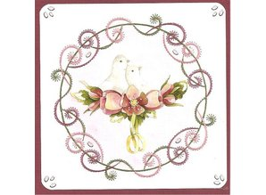 "BASTELSETS / CRAFT KITS: Card set ""Wedding"" embroidered"