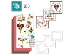 "BASTELSETS / CRAFT KITS: para bordar conjunto de tarjeta ""boda"""