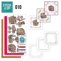 "Card set ""Love"" embroider"