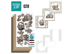 """BASTELSETS / CRAFT KITS: ricamare mappa Sito """"Gatti"""""""
