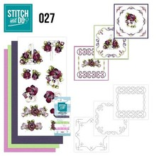 "BASTELSETS / CRAFT KITS: at brodere Card Set ""Flower"""