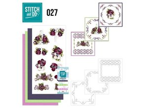 "BASTELSETS / CRAFT KITS: a ricamare Card Set ""Fiore"""