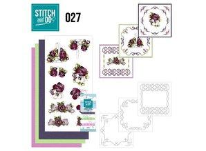 """BASTELSETS / CRAFT KITS: at brodere Card Set """"Flower"""""""
