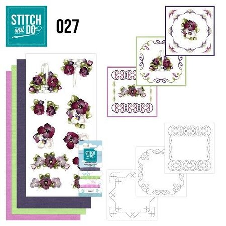 "BASTELSETS / CRAFT KITS: para bordar conjunto de tarjeta ""flor"""