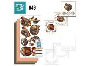"BASTELSETS / CRAFT KITS: Card set ""Autumn"" embroidered"