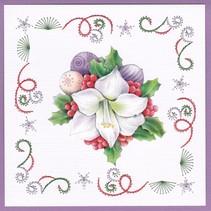 Card set for embroidery, Christmas theme