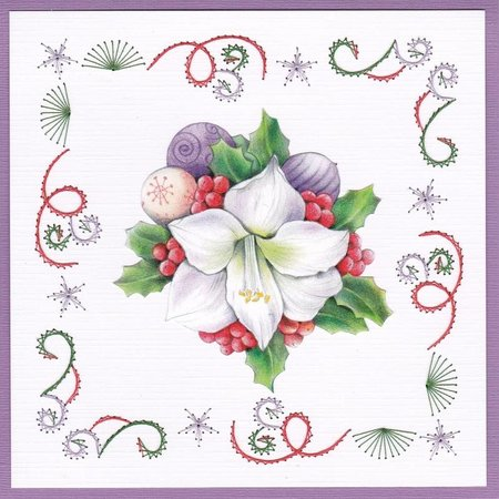 BASTELSETS / CRAFT KITS: Card set for embroidery, Christmas theme