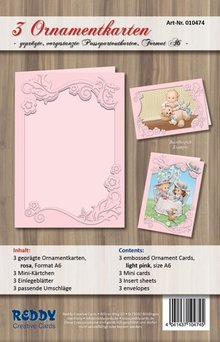 REDDY tarjetas conjunto de ornamento, A6, rosa