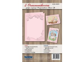 REDDY Ornament card set, format A6, pink