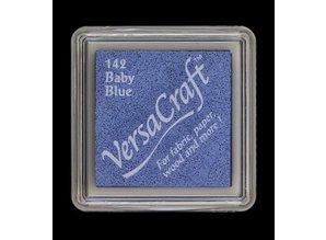 FARBE / STEMPELINK cojín de tinta, 33 x 33 mm, azul de bebé