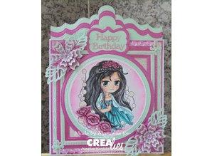 Crealies und CraftEmotions Stamping stencils: border