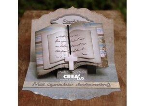Crealies und CraftEmotions stampi di taglio: forma di libro XXL