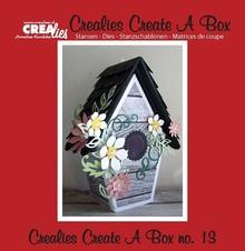 Crealies und CraftEmotions Stamping templates: 3D bird house